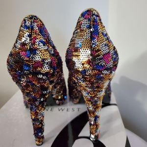 Nine West sparkle shoe. 8m
